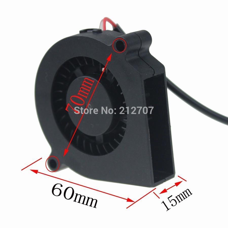 Das Beste 1 Stücke Bürstenlosen Dc Kühlung 7 Klinge Fan 6015 S 24 V 60x15mm Schwarz Heimwerker