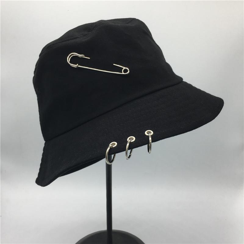 55dc984ad31 Hot Selling 2017 BTS Fashion K POP Iron Ring Bucket Hats Popular ...
