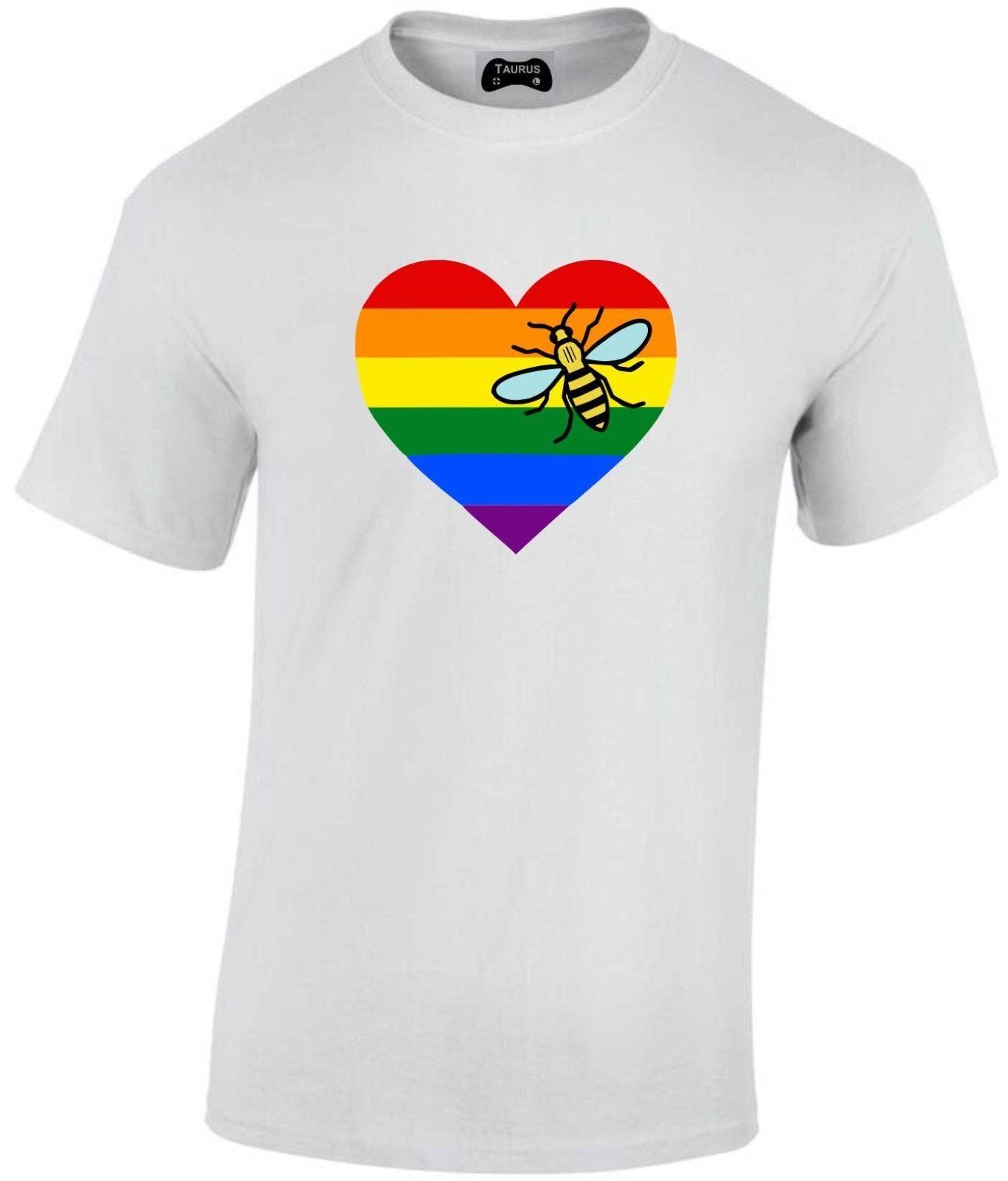 4e6990b40d4e NEW Adult Rainbow Heart MCR Factory Outlet Bee T SHIRT Pride Festival  Factory Outlet Summer Casual Man T Shirt Good Quality T Shirt T Tee Shirts  Online ...