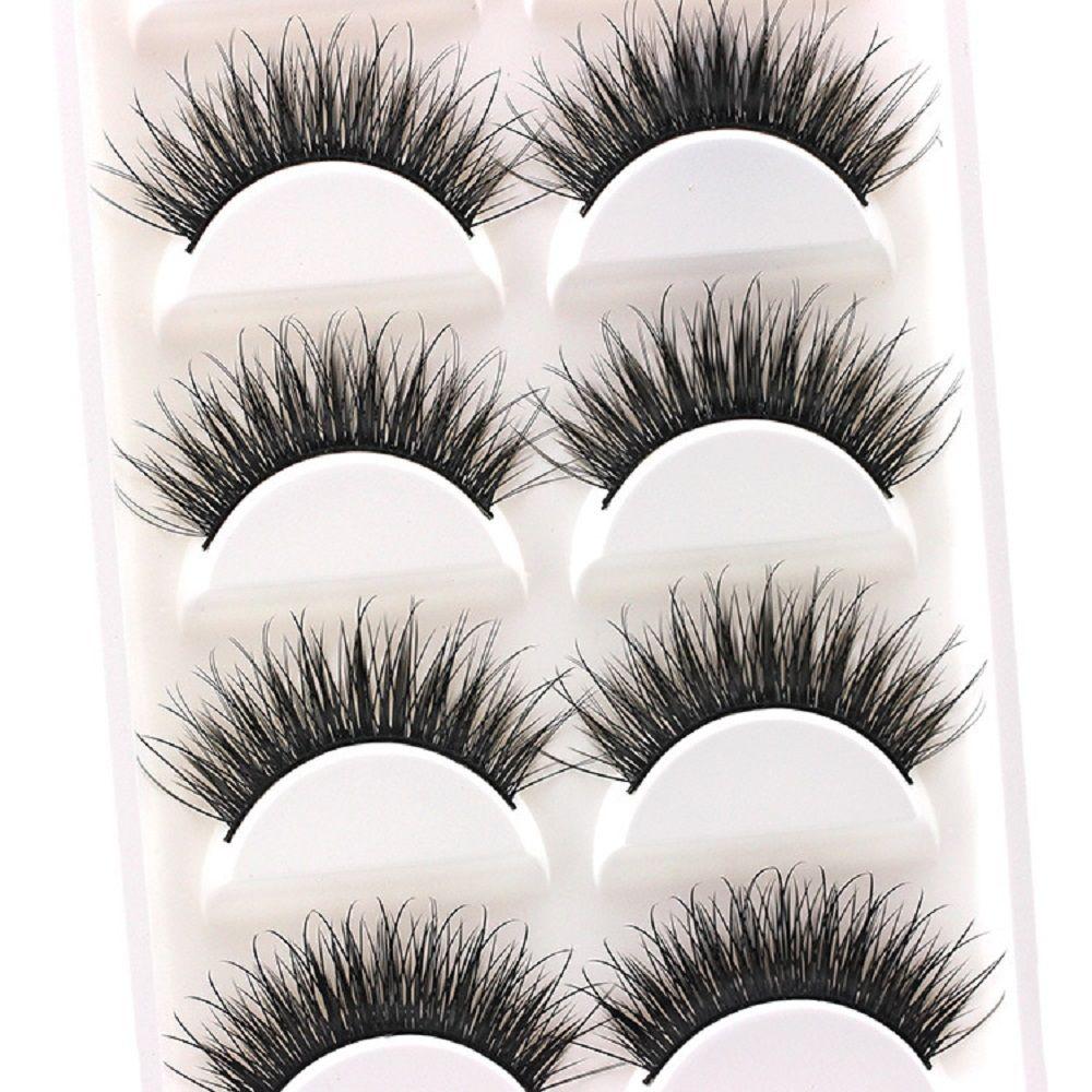 Thick False Eyelashes Messy Cross Thick Natural Fake Eye Lashes Professional Bigeye Makeup Tool Long False Eyelashes