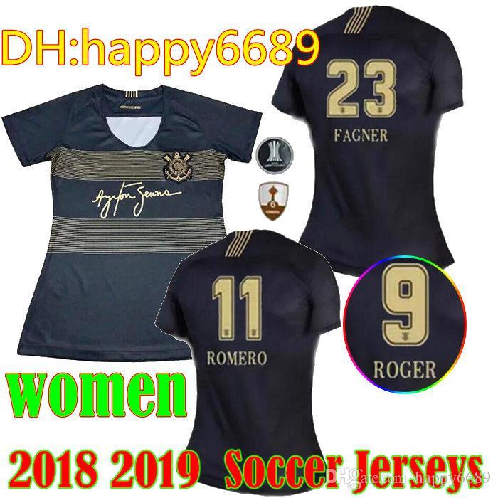 2019 Mujer Corinthian Paulista Soccer Jersey 18 19 Tercera Fuera   10  JADSON Camiseta De Fútbol PABLO BALBUENA ROMERO 3er Brasil Uniforme De  Fútbol Por ... a89effd9bc556