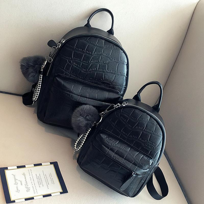 Women S Backpack Female Korean Version 2018 New Casual PU Leather Fashion  Bag Personality Mini Wild Stone Pattern Cute Backpack Camera Backpack Back  Packs ... 94a4671ae2306