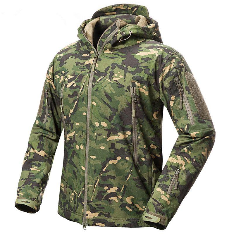 71504cf32a7e Großhandel Outdoor Männer Frauen Fleece Liner Wasserdichte Jacke Taktische  Militär TAD V.5 Camouflage Sport Camping Skifahren Warme Kapuzenoberteile  Mantel ...