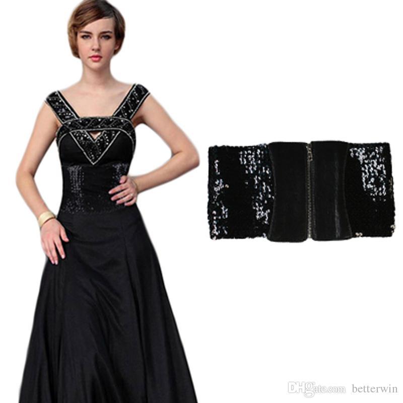 a7e744ec2f9 Acheter   SINGYOU Femmes Mode Sequin Paillette Femmes Décoration Large Ceinture  Pour Robe Noir Wasit Ceinture Cummerbund Femme Ceinture De  75.13 Du ...