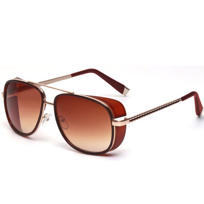 e19ed81139a61 Male Steampunk Sunglasses Tony Stark Iron Man Matsuda Sunglasses Retro  Vintage Eyewear Steampunk Sun Glasses UV400 Oculos De Sol Super Sunglasses  Victoria ...