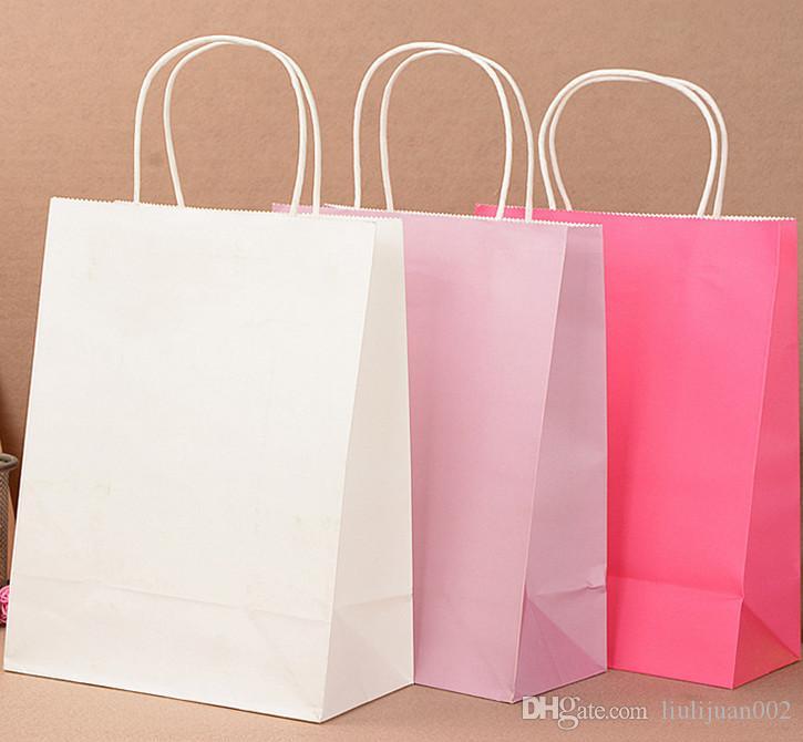 88b7cf271e9 Compre Sacos De Compras De Roupas De Papel Kraft Presente Eco Bag Bolsa  Sacos De Papel Portátil Saco Pode Imprimir Logo32   12   27 Cm De  Liulijuan002