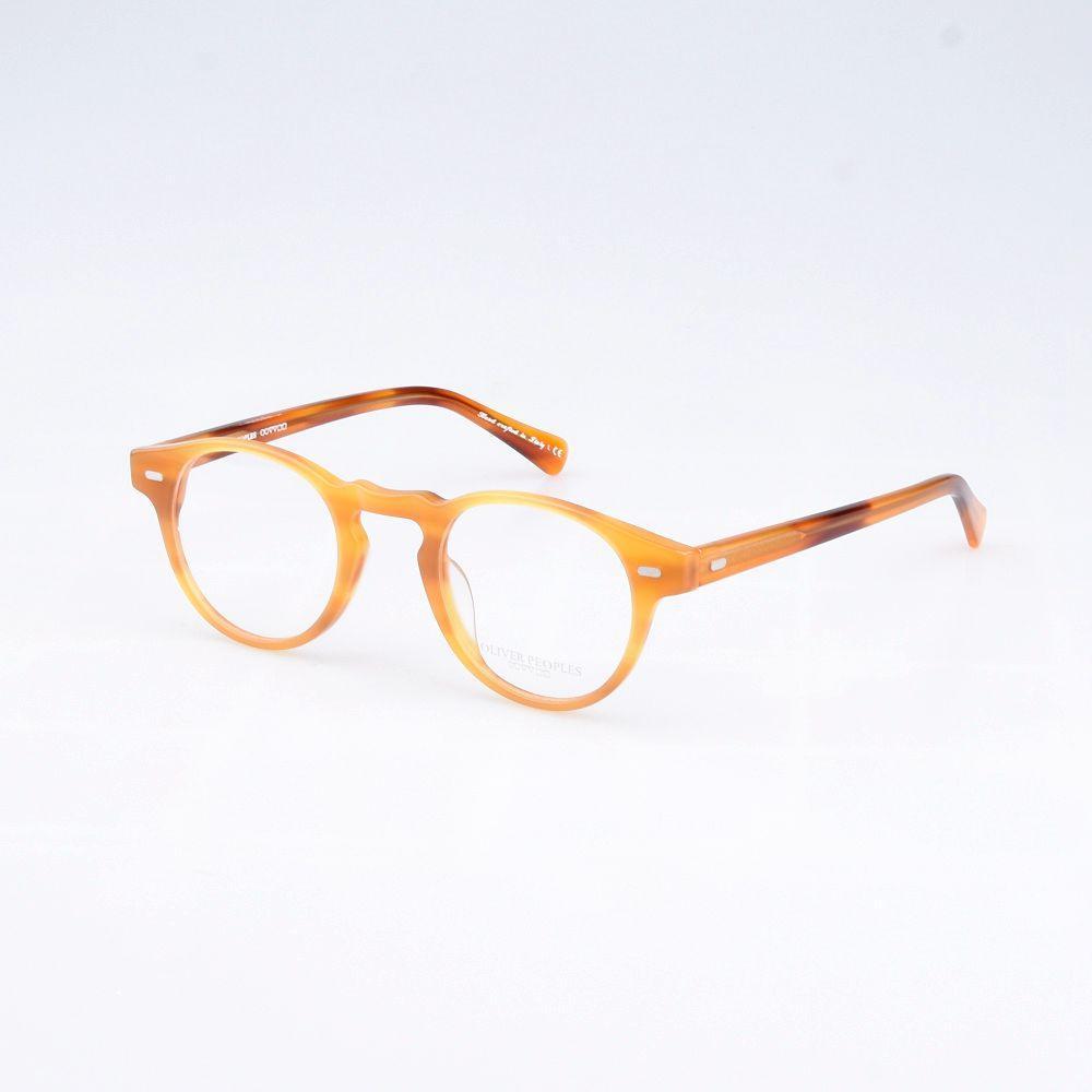 4bea140c3e9cc Compre Óculos De Acetato Do Vintage Rodada Handcrafted Óptica Óculos De  Armação Homens E Mulheres Oculos De Grau Masculino E Feminino Eyewear De ...