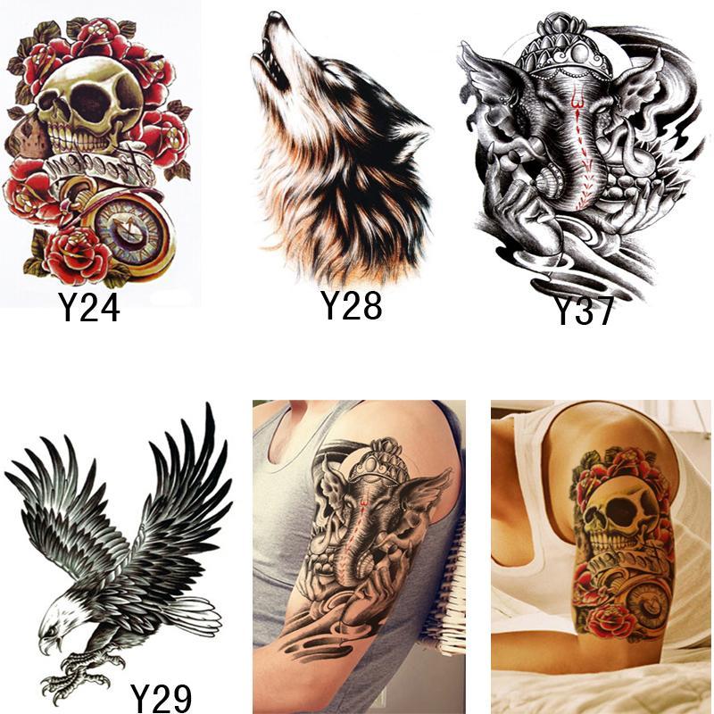 d003ec1f1 3D Temporary Tattoos Stencils Beauty Makeup For Men Women Sexy Transferable  Waterproof Tattoos Body Art Temporary Real Temporary Tattoos Realistic Fake  ...