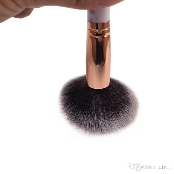 10 adet / takım Mermer Makyaj Fırçalar Allık Tozu Kaş Eyeliner Vurgu Kapatıcı Kontur Vakıdatı Makyaj Fırça Seti