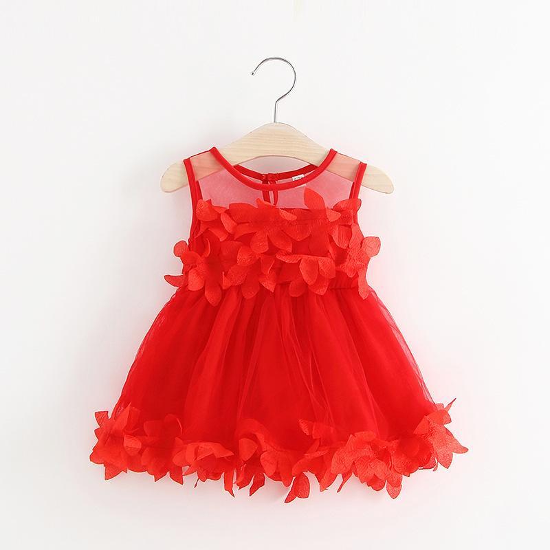 123b985e1638 2019 Summer Newborn Baby Girl Dresses Lace Flower Girls Wedding ...