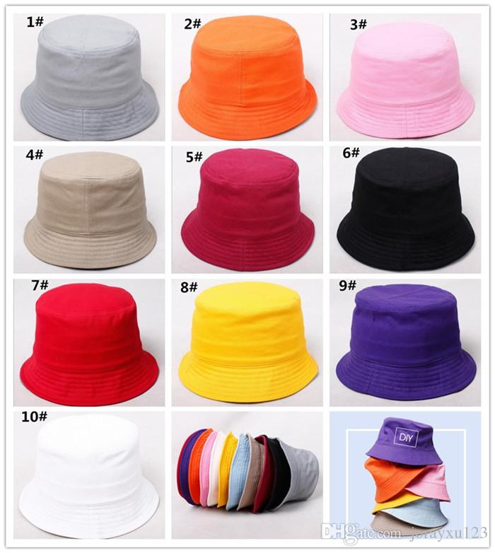 d6d234fdc6d 2019 Children Plain Bucket Hat Kids Blank Fishing Hats Boy Girl Fisherman  Cap Custom Logo Color Baby Beach Sun Visor Gift J165 From Jorayxu123
