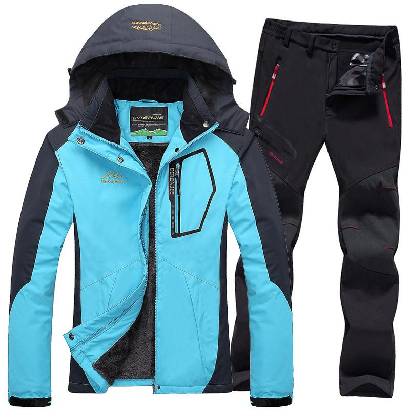5400774157 Ski Jacket Suits Women Waterproof Fleece Snow Jackets Thermal Coat Outdoor  Mountain Skiing Snowboard Jacket Pants Plus Size UK 2019 From Kangshifuwat