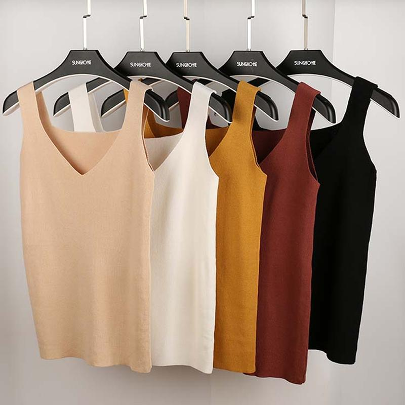1daf1789a6 2019 GAOKE Sexy Crop Top Knitted Summer Basic Tank Top Women Blouse  Sleeveless V Neck Top Female T Shirt Vest Casual Camis Streetwear From  Illusory07, ...