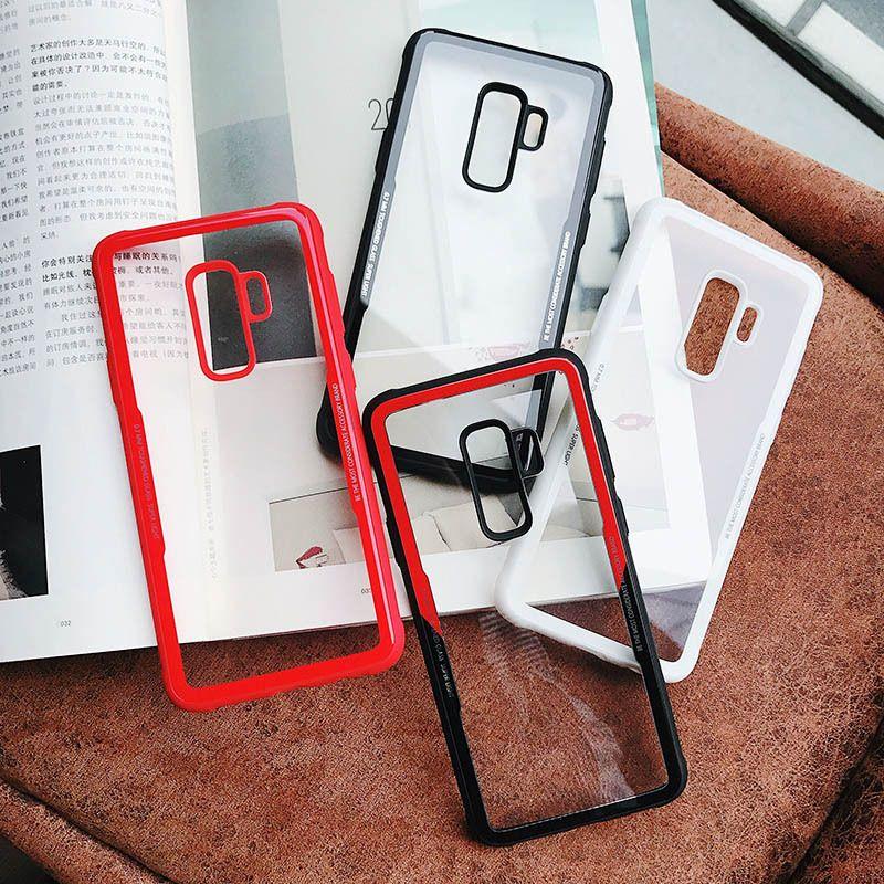 size 40 cc936 9337e Armor Case Hybrid Bumper TPU Transparent PC Acrylic Back Cover FOR Samsung  Galaxy S8 S8 PLUS S9 S9 PLUS J6 2018 J2 PRO 2018 J3 J5 J7 PRO 100