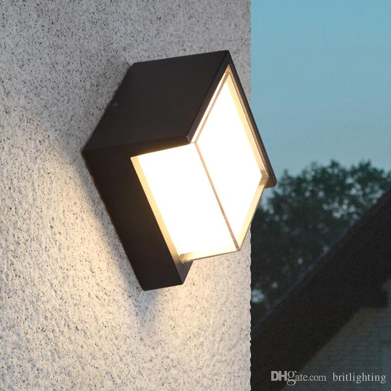 Led Lamps Lights & Lighting Modern Led Wall Light Waterproof Outdoor Garden Porch Wall Sconces Indoor Wall Lamps Balcony Wall Lights