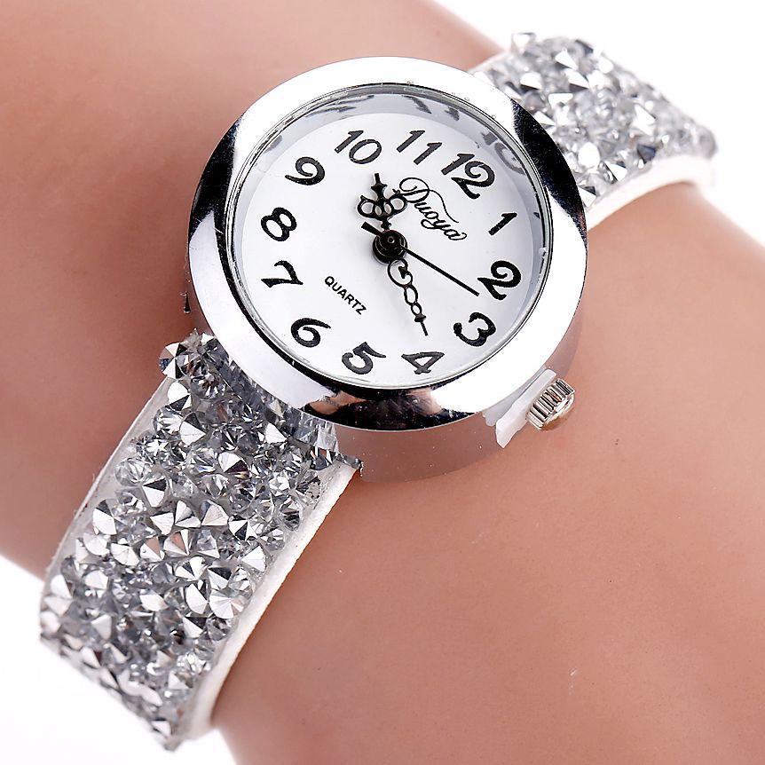 Großhandel Duoya Marke Uhren Frauen Mode Kristall Strass Armbanduhr