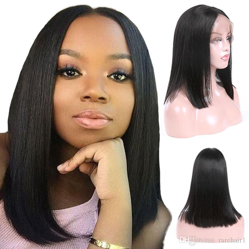 Malaysian Straight Human Hair Wigs With Baby Hair Lace Frontal Wigs 130%  Density Remy Human Hair Wigs For Women Natural Color Lace Wig Sale Remy  Human Hair ... de2e4ac91f