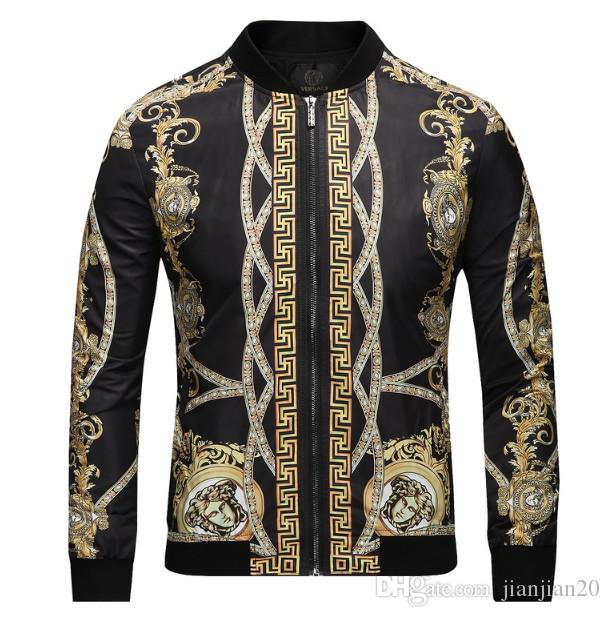 Tendance nouvelle 2018 veste veste col haut de gamme pour hommes Europe et les États-Unis mode casual veste haut de gamme