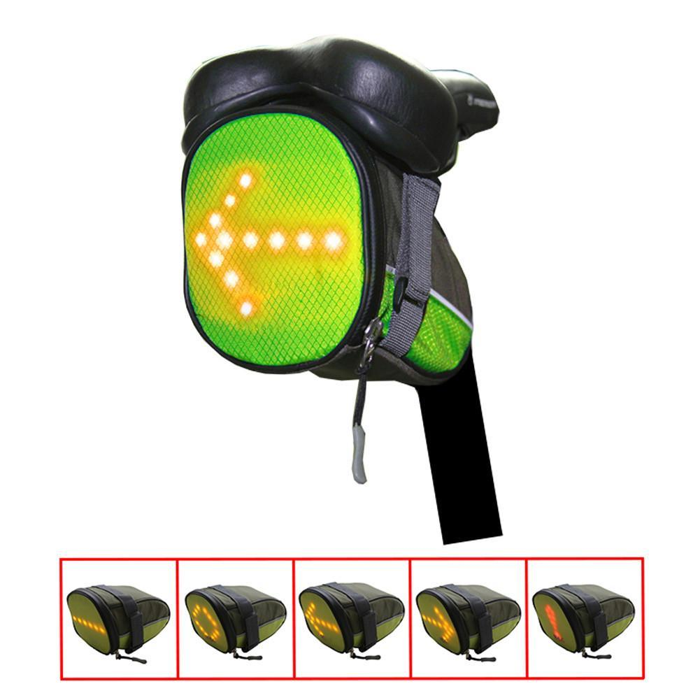 100% Quality Outdoor Hiking Camping Bicycle Led Safety Turnning Signal Light Backpack Signal Light Indicator Reflective Vest Bike Backpack Bicycle Accessories