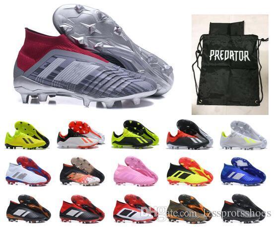 Botas altas de fútbol para jóvenes con tobillo para hombre Predator 18 + x Pogba FG Accelerator DB Zapatos de fútbol para niños PureControl Purechaos