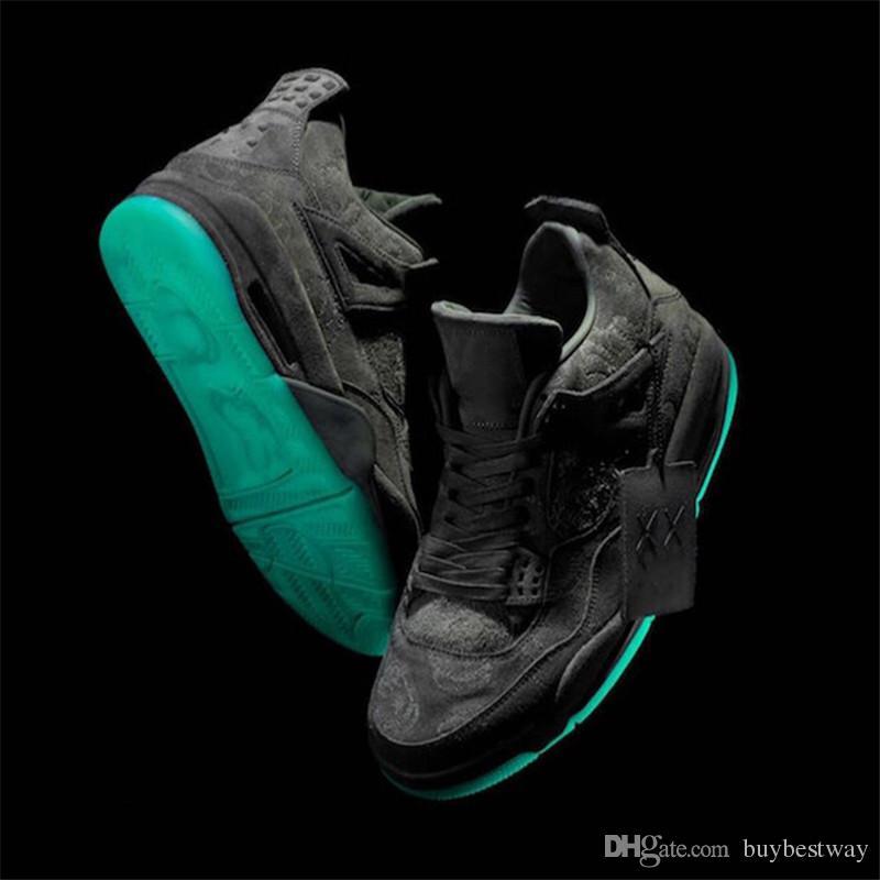 51fefe2030351e 2017 KAWS X 4 XX Kaws Cool Grey White Black Glow Basketball Shoes ...