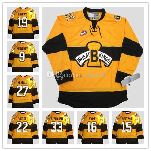 2019 Brandon Wheat Kings  19 Nolan Patrick  9 Ivan Provorov  27 Ron Hextall   22 Jordin Tootoo  33 Dustin Byfuglien  16 Mark Stone Hockey Jersey From  Abao20 b7a5bae91