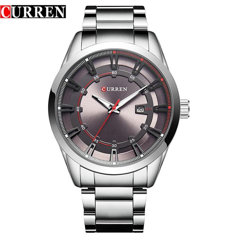 fc385165ba4 Relogio Masculino Curren Watch Men Luxury Stainless Steel Brand Analog Quartz  Watches Casual Sport Waterproof Clock Mens Watches Sale Watch Online Watches  ...