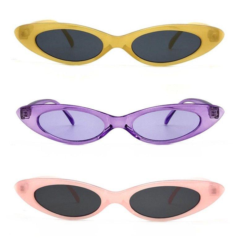 Gafas de sol de ojo de gato vintage mujeres gafas de sol de moda retro marco pequeño UV400 gafas 2018 gafas de sol calientes de la venta de moda de verano
