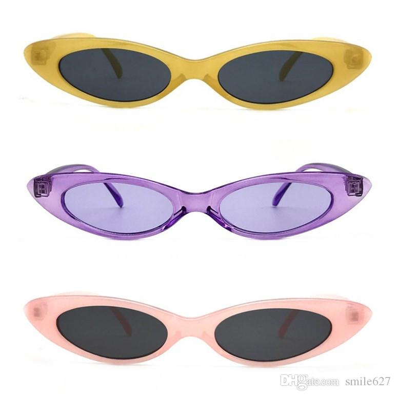 occhiali da sole vintage cat eye donne retrò piccola cornice moda gioielli occhiali UV400 occhiali 2018 estate moda vendita calda occhiali da sole