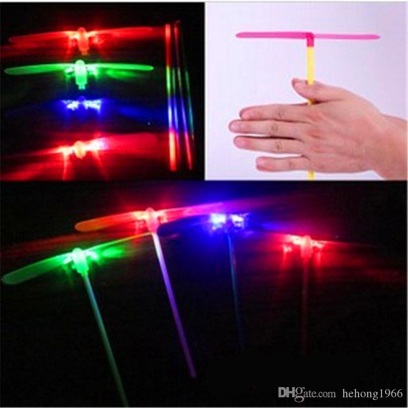 LED Flashing Flying Dragonfly Toy Plastic Helicopter Boomerang Children Kids Party Christmas Favors Gift Festival Gift New Arrival 0 41jr Z