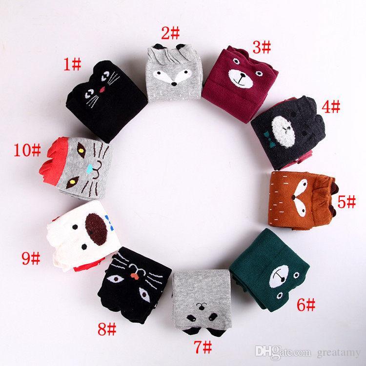 dessin animé Animal jambières 2018 Mode bébé filles garçons du genou haut Totoro Panda Fox chaussettes enfants mignon chaussette genou rayé