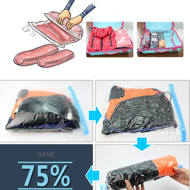 New Storage Bags Vacuum Bag Hand Volume Vacuum Clothes Storage Bags Travel Organizer Wardrobe Vacuum Bags For Clothes