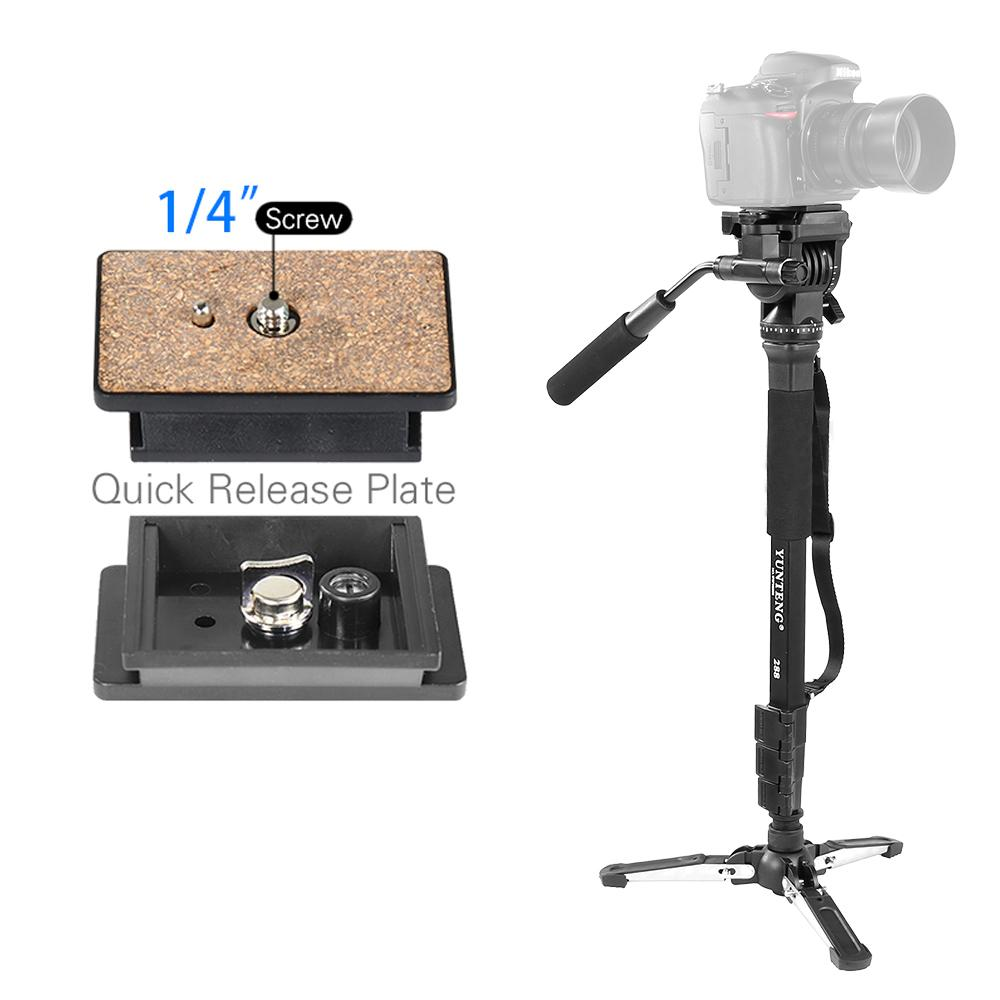 Yunteng VCT-288 Professional Camera Monopod Tripod With Fluid Pan Head For Nikon Sony Canon DSLR Photography Studio