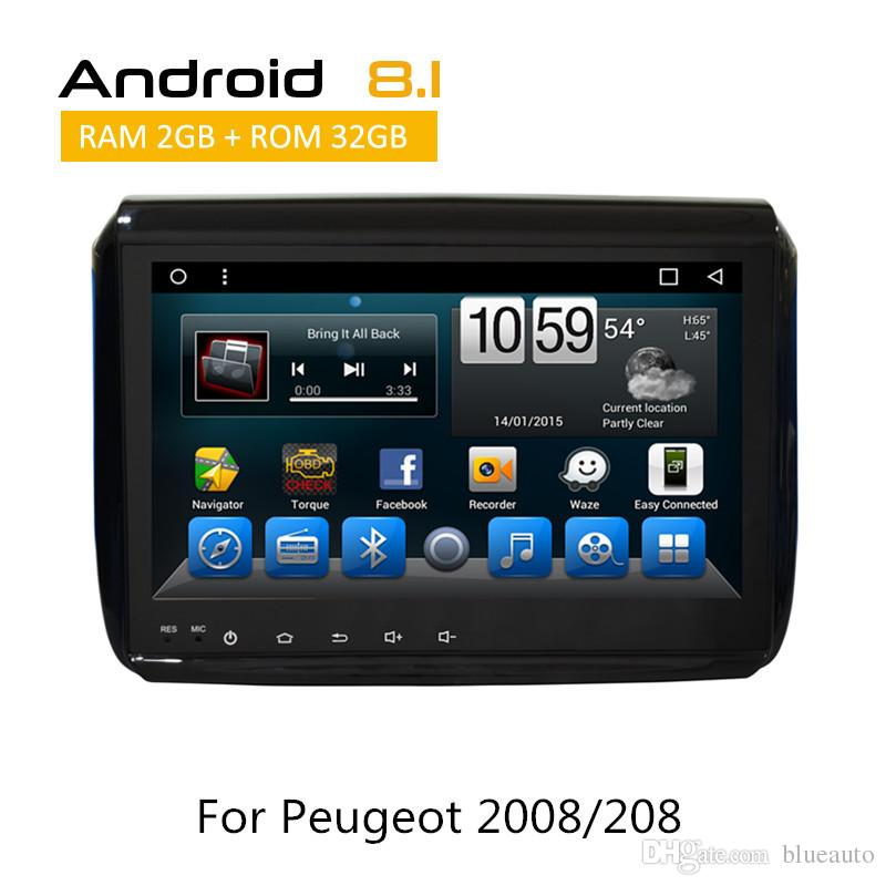 9.0 inch full touch hd screen android car dvd player for peugeot