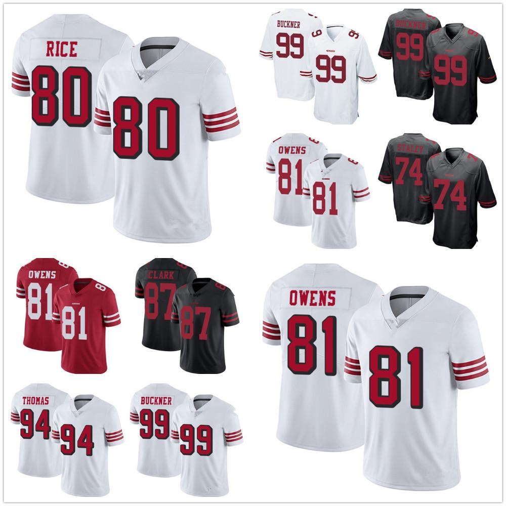 822b48cfbeb ... t shirt nfl name number logo 71188 c179c  italy 2018 san francisco 49ers  jersey 99 deforest buckner 94 solomon thomas 81 trent taylor 81