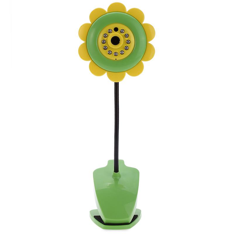 Sunflower Wireless Wifi Baby Monitor Night Vision Infant Baby Monitor Digital Video Camera Two Way Audio Nanny Portable