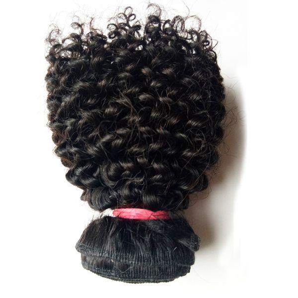 La Navidad hermosa del pelo de la trama brasileña virginal del pelo humano 3 unids rizado rizado 8-12 pulgadas sexy indio mongol remy extensiones de cabello