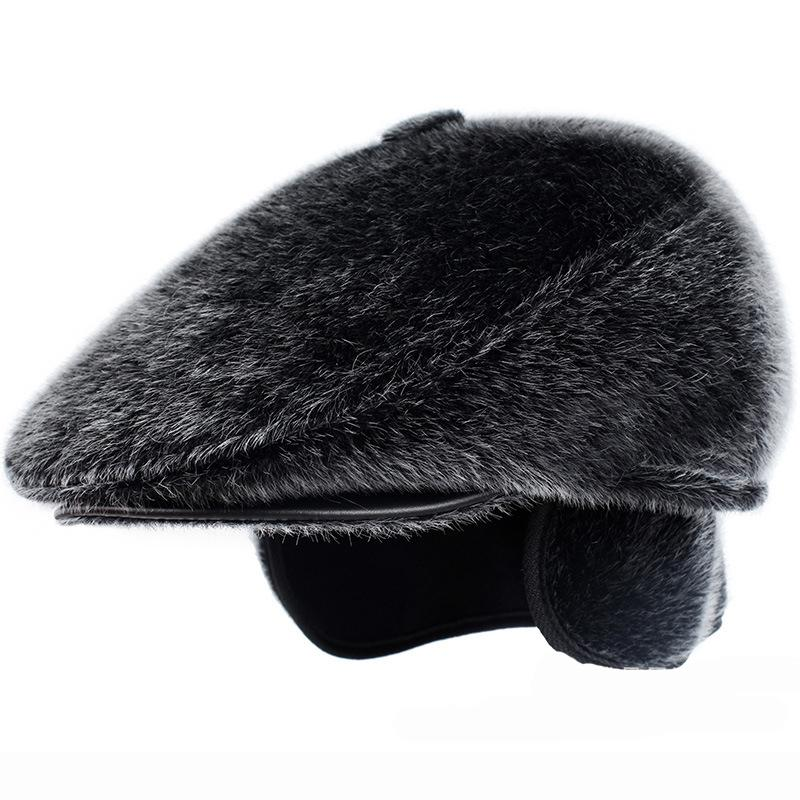 9b7d891b9f122a 2019 HT1845 Retro Classic Autumn Winter Hat Men Vintage Faux Dad Hat Warm Ear  Flap Male Flat Berets Causal Ivy Beret Cap From Hiramee, $16.59 | DHgate.Com
