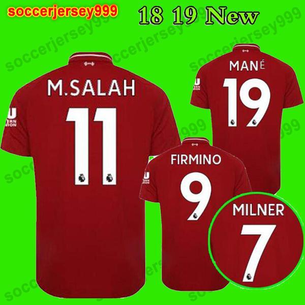 48739c4272 Compre Liverpool Soccer Jersey Football Shirt Tailândia Lvp Soccer Jerseys  2018 2019 Salah Futebol Camisas Mane Coutinho Lallana Firmino Lucas  Sturridge ...