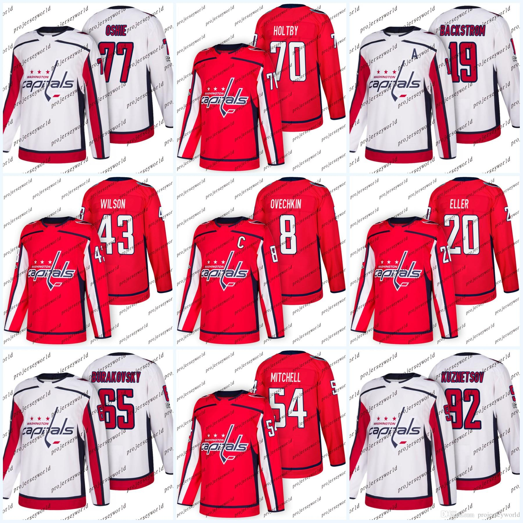 240edf179 Youth 100th Patch Washington Capitals Alex Ovechkin T.J. Oshie Evgeny  Kuznetsov Nicklas Backstrom Tom Wilson Team Road Ice Hockey Jerseys UK 2019  From ...