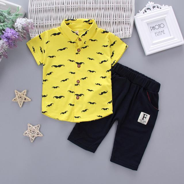 f19de72da930 2017 Summer Baby Boys Clothes Suits Gentleman Style Kids Lovely ...