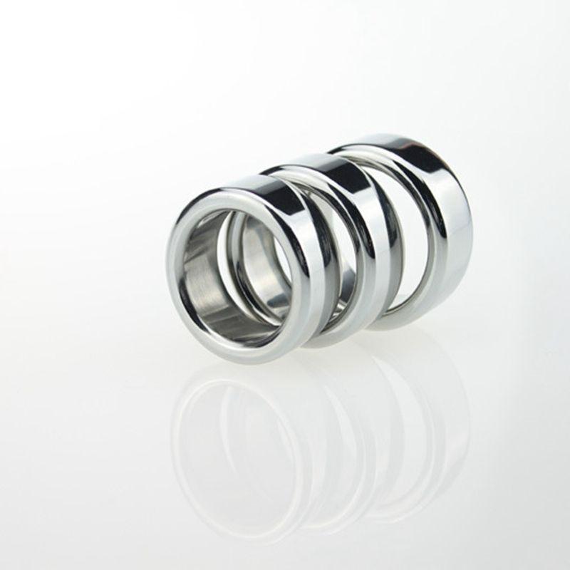 Los hombres retrasan anillo del martillo Stee inoxidable anillos del pene para hombre dispositivo de castidad Cockring jaula del pene juguetes sexuales 15 mm de ancho, 26 28 30 mm