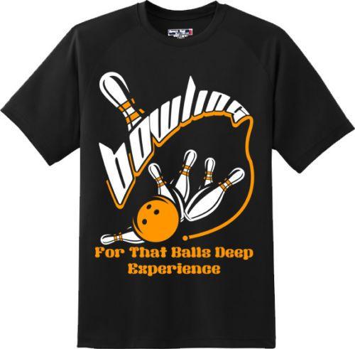 5943722f44 Funny Balls Deep Experience Bowling Sports T Shirt New Graphic Tee Shop T  Shirts Online T Shirt Shirt From Dhivanka, $11.17| DHgate.Com