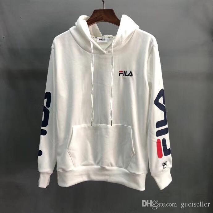 e985362cfb754 2019 FILA Luxury Brand Hoodie Men Designer Hoodie Sweatshirts High Quality  Casual Loose Streetwear Plus Velvet Coat 007