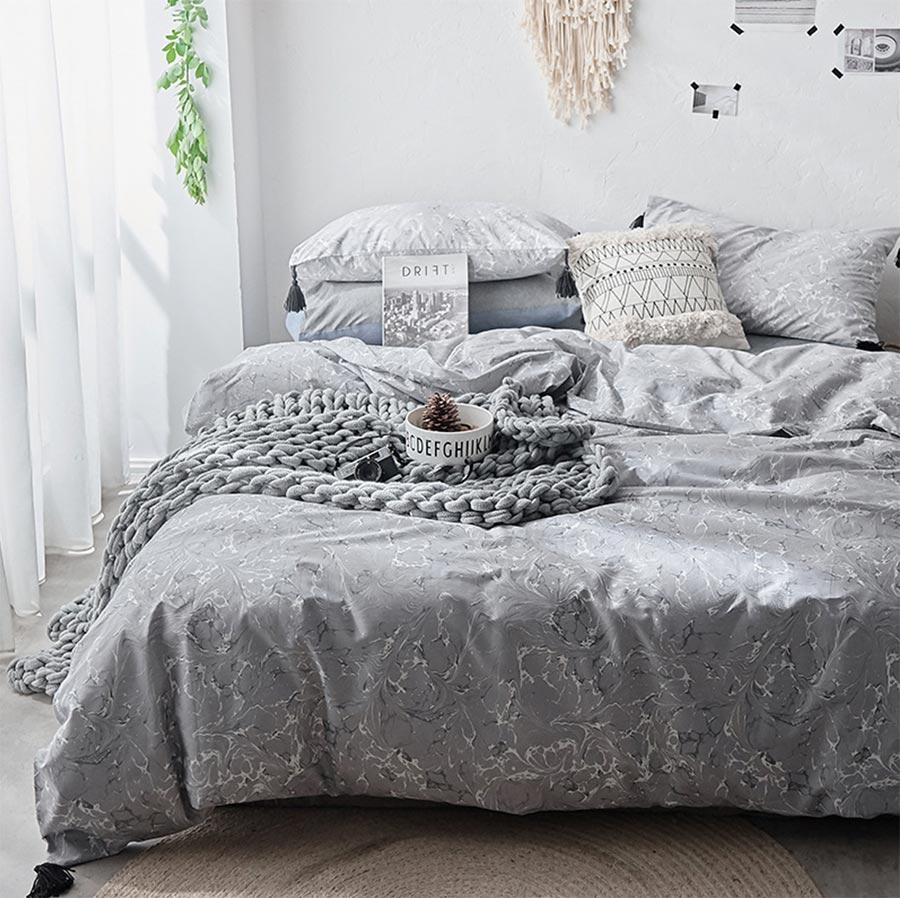 Fashion Geometric Single Double Bedding Set Teen Mantwin Full Queen