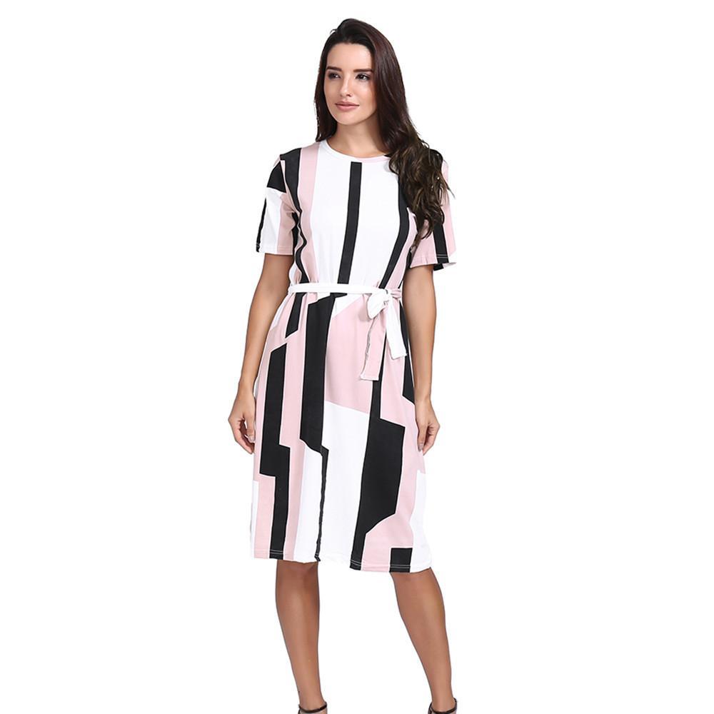 1ef485fcab497 vetement femme 2019 Bohemian style Womens Irregular Shape Printed Dress  Elegant Ladies girls Casual Dresses vestidos de festa