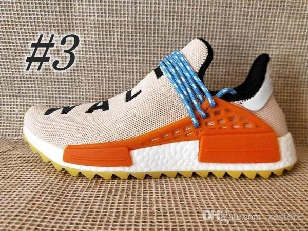 036751768 2018 New Homecoming Creme X NERD Solar PacK Human Race Running Shoes ...
