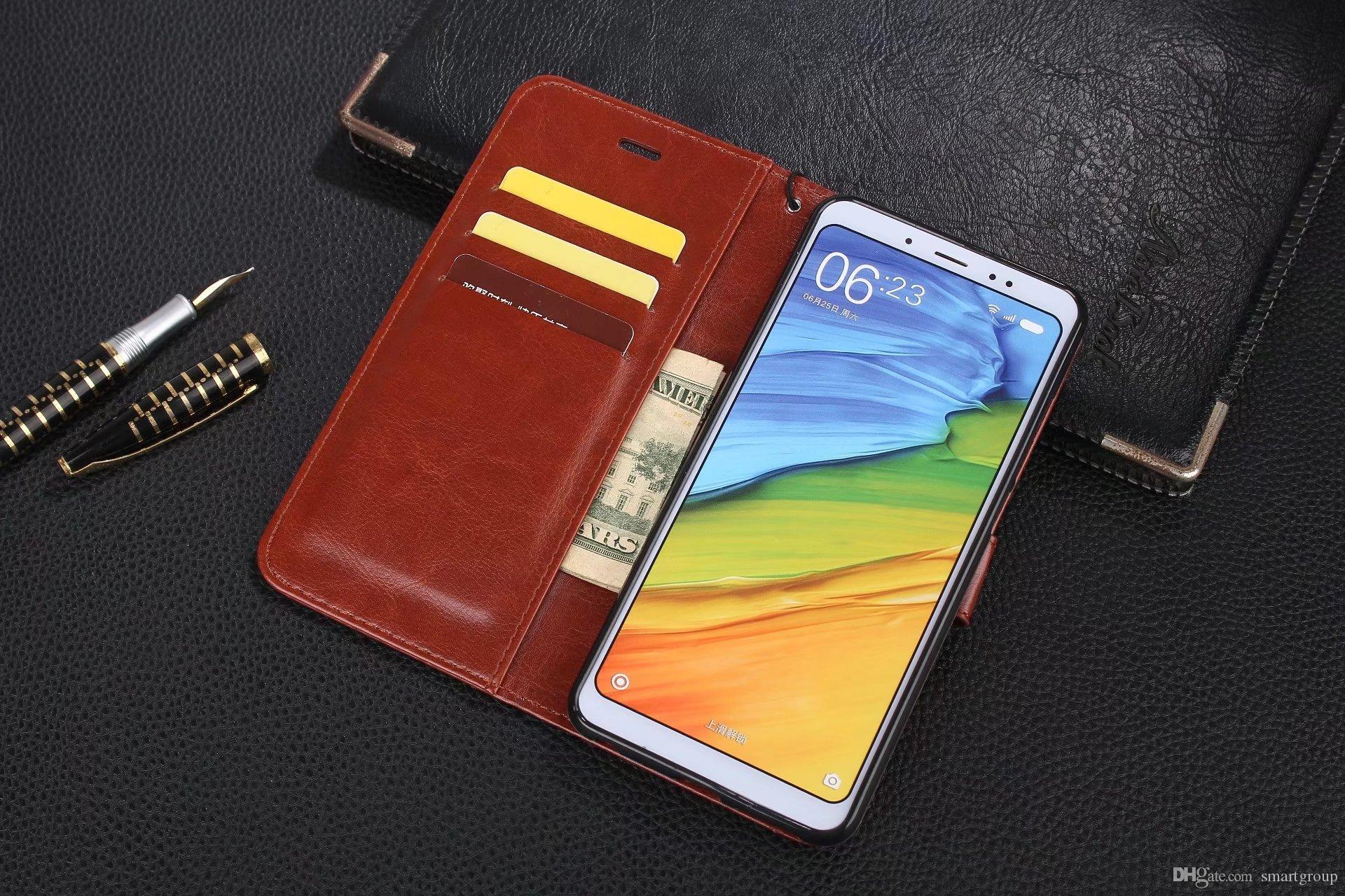 finest selection ef49c 614f6 For Xiaomi Redmi Note 5 Pro Case Clip Flip Cover Luxury Original Colorful  Cute Ultra-Thin Leather Case For Xiaomi Redmi Note 5 Pro