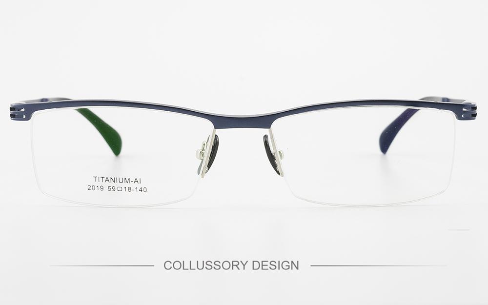 e8c0f01451d 2019 High Quality Alloy Optical Prescription Eyeglasses Frame Eyewear 2019  1 Half Rim Spring Legs Men Women Eye Glasses Frame From Lbdwatches