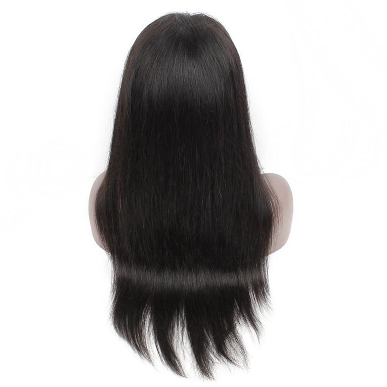 8A Quality Brazilian Virgin Hair Lace Front Wig Bleached Knots Silky Straight Glueless Full lace Human Hair Wigs For Black Women